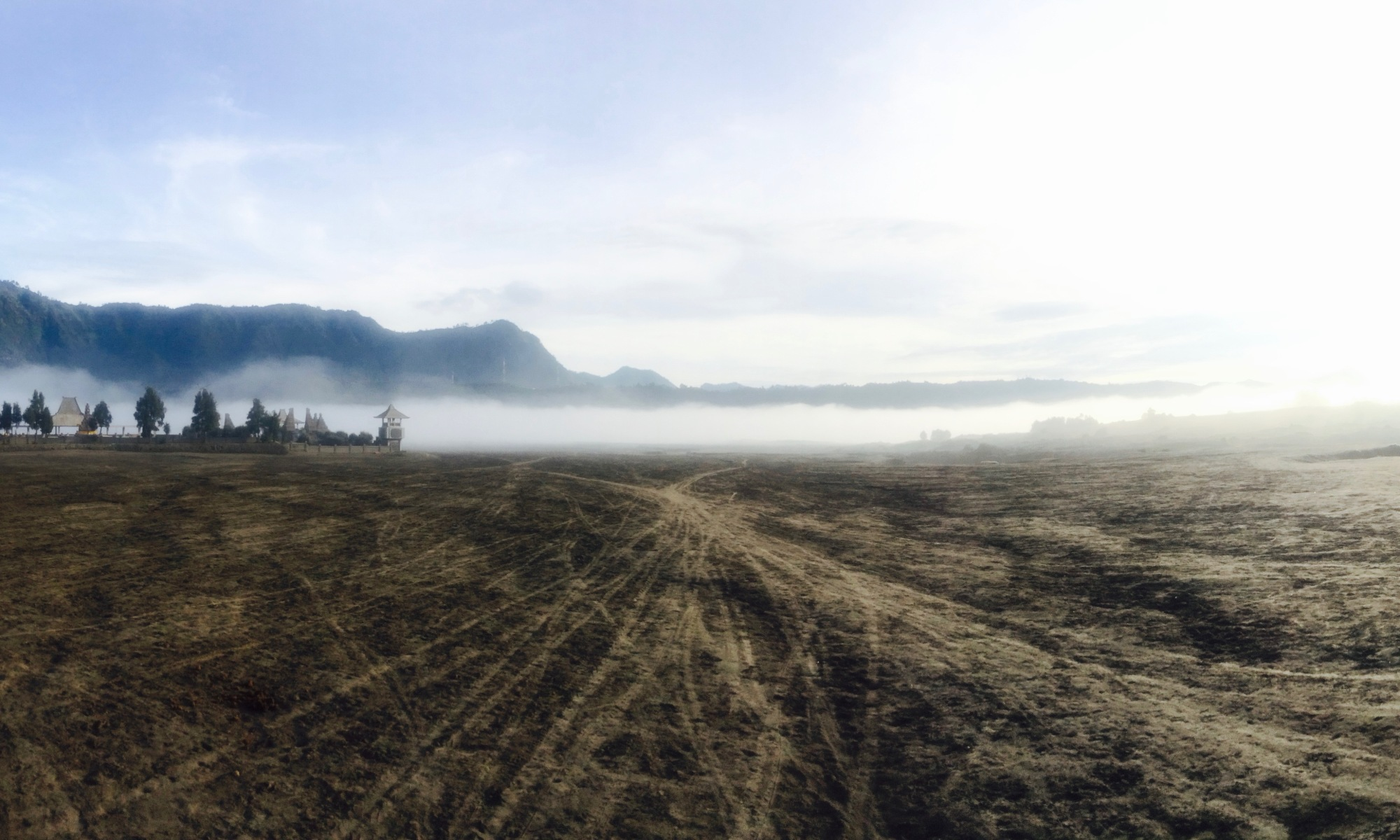 Panoramic view Mount Bromo Indonesia